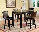 DELIA 5 PK COUNTER HEIGHT WITH SWIVEL BARSTOOLS