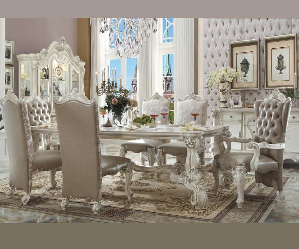 Versailles Collection Bone White Formal Dining Set