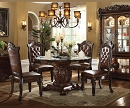 VENDOME COLLECTION FORMAL GLASS TOP DINING SET