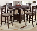 EMPIRE DARK ESPRESSO 5 PIECES COUNTER HEIGHT SET