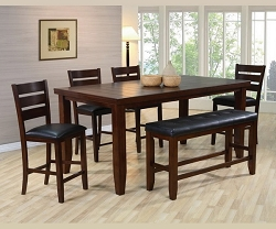 BARDSTOWN 6 PIECES COUNTER HEIGHT DINNING SET