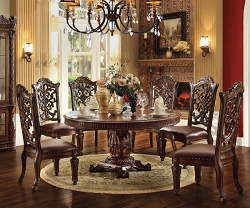 VENDOME COLLECTION FORMAL WOOD TOP DINING SET