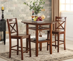 TARTYS CHERRY FINISH COUNTER HEIGHT DINING SET