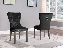 DIVANTE BLACK VELVET TUFTED DINING CHAIR