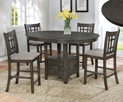 HARTWELL GRAY 5 PIECES COUNTER HEIGHT SET