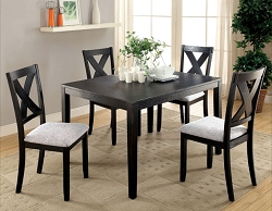 GLENHAM BRUSHED BLACK 5 PIECE DINING SET
