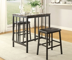 EDGAR FAUX MARBLE COUNTER HEIGHT DINING SET