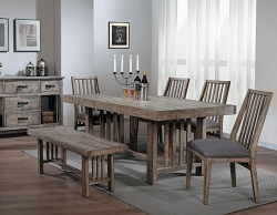 CODIE WEATHER WOOD GRAY TONE DINING COLLECTION