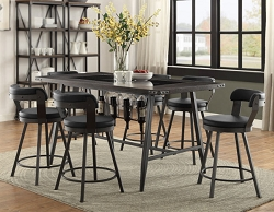 APPERT BLACK MODERN INDUSTRIAL DINING BAR TABLE COLLECTION