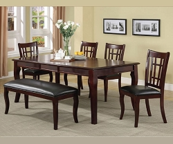 DARIAN CHERRY BUTTERFLY LEAF STANDARD DINING SET