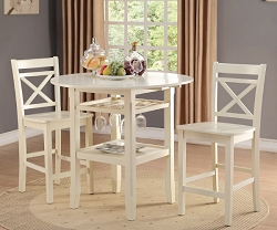 TARTYS CREAM FINISH COUNTER HEIGHT DINING SET