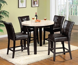 MARION II MARBLE TOP COUNTER HEIGHT DINING SET