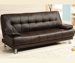 BEAUMONT BROWN ADJUSTABLE SOFA BED FUTON