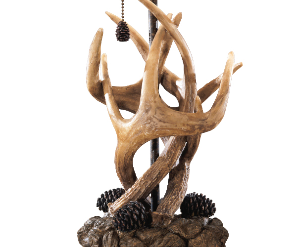 Derek Vintage Antler And Pine Cone Table Lamp 1 Pair