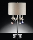 GLASS AND CRYSTAL LIKE ORNAMENT 29 INCHES TABLE LAMP