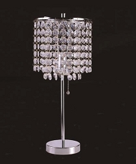 CHROME ROUND 19 INCHES TABLE LAMP
