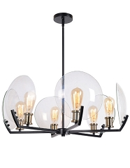 FINLAY BLACK  6 LIGHT CHANDELIER