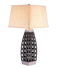 GEOMETRIC 29 INCHES FABRIC SHADE TABLE LAMP
