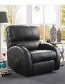 MONTAGE BLACK TOP GRAIN POWER LIFT RECLINER CHAIR