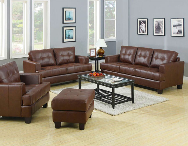 Samuel Brown Leatherette Sofa Love Collection