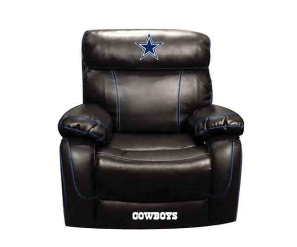 12d65aaf NFL DALLAS COWBOY CHAMP BONDED LEATHER ROCKER RECLINER CHAIR