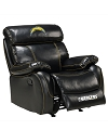 NFL SAN DIEGO CHARGERS CHAMP BONDED LEATHER ROCKER RECLINER CHAIR