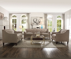 SUZANNE BEIGE SOFA AND LOVESEAT COLLECTION