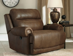 AUSTERE BROWN ZERO WALL RECLINER CHAIR