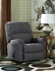 URBINO CHARCOAL ROCKER RECLINER CHAIR