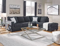 ALTARI SLATE SECTIONAL CHAISE WITH PULL OUT SLEEPER BY ASHLEY