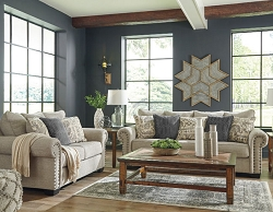 ZARINA JUTE SOFA AND LOVE SEAT COLLECTION BY ASHLEY