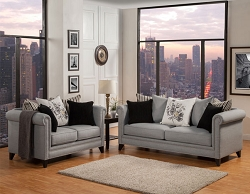 FLORENTINE STEEL SOFA AND LOVE SEAT SET - SPECIAL