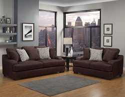 ROWLAND CHOCOLATE GEL FOAM SEATING SOFA AND LOVE SEAT COLLECTION