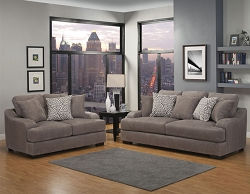 ROWLAND SMOKE GEL FOAM SEATING SOFA AND LOVE SEAT COLLECTION