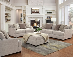 OLYMPIA IVORY POCKET COIL SEATING SOFA AND LOVE SEAT COLLECTION