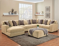 WESTLY BRITNEY SAND GEL FOAM SEATING L SHAPE SECTIONAL CHAISE