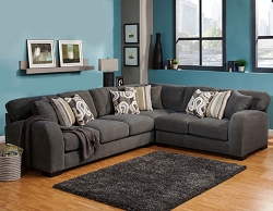 WESTLY SMOKE GEL FOAM SEATING L SHAPE SECTIONAL