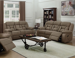 HOUSTON TAN RECLINING SOFA LOVE SEAT COLLECTION