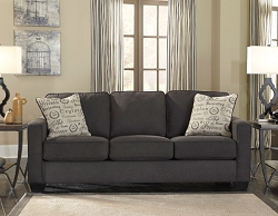 ALENYA CHARCOAL PULL OUT QUEEN SOFA SLEEPER BY ASHLEY