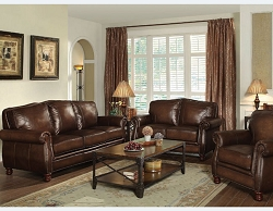 MONTBROOK FULL LEATHER SOFA LOVESEAT COLLECTION