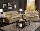TALON TAUPE BONDED LEATHER MATCH SOFA LOVESEAT SPECIAL