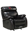 NFL ARIZONA CARDINALS CHAMP BONDED LEATHER ROCKER RECLINER CHAIR