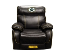 NFL GREEN BAY PACKERS CHAMP BONDED LEATHER ROCKER RECLINER CHAIR