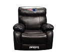 NFL NEW ENGLAND PATRIOTS CHAMP BONDED LEATHER ROCKER RECLINER CHAIR