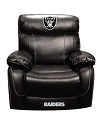 NFL OAKLAND RAIDERS CHAMP BONDED LEATHER ROCKER RECLINER CHAIR