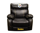 NFL PITTSBURGH  STEELERS CHAMP BONDED LEATHER ROCKER RECLINER CHAIR