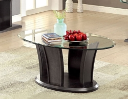 MANHATTAN DARK GREY GLASS TOP COFFEE TABLE