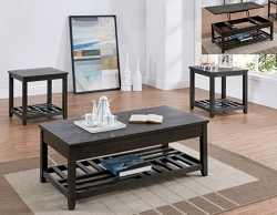 NEIL LIFT TOP CHARCOAL GRAY COFFEE TABLE