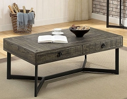 VEBLEN INDUSTRIAL GRAYISH BROWN COFFEE TABLE