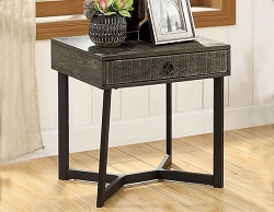 VEBLEN INDUSTRIAL GRAYISH BROWN END TABLE
